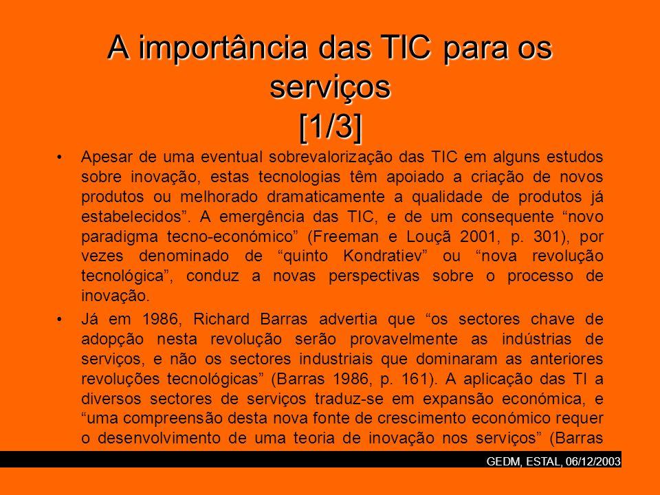 A importância das TIC para os serviços [1/3]